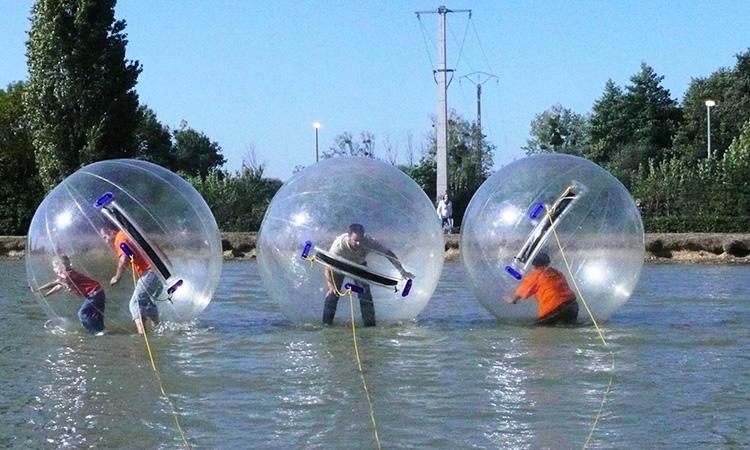 teambuilding, bulles sur l'eau