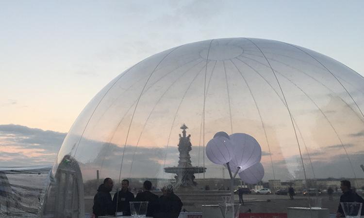 louer un dôme gonflable transparent, louer un igloo transparent
