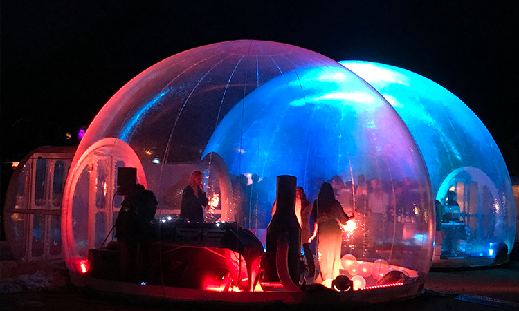 igloo gonflable transparente