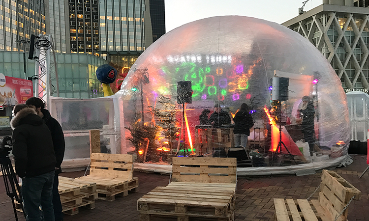 location et vent d'igloo gonflable transparent