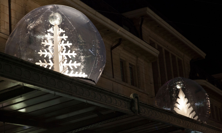 Décor de Noël dans une bulle