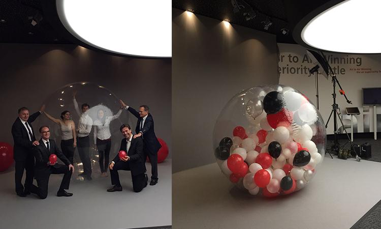shooting atypique dans une bulle, photomaton, studio photo