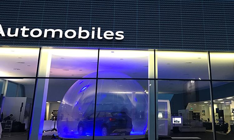 bulle de présentation pour voiture, bulle de fumée