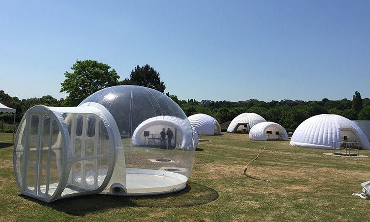 Igloo de 4 m, bulle gonflable, structure ronde