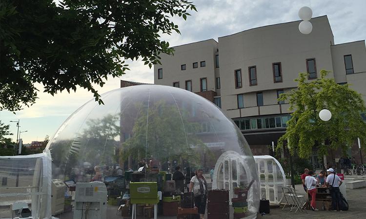 location ou achat de tente bulle gonflable transparente