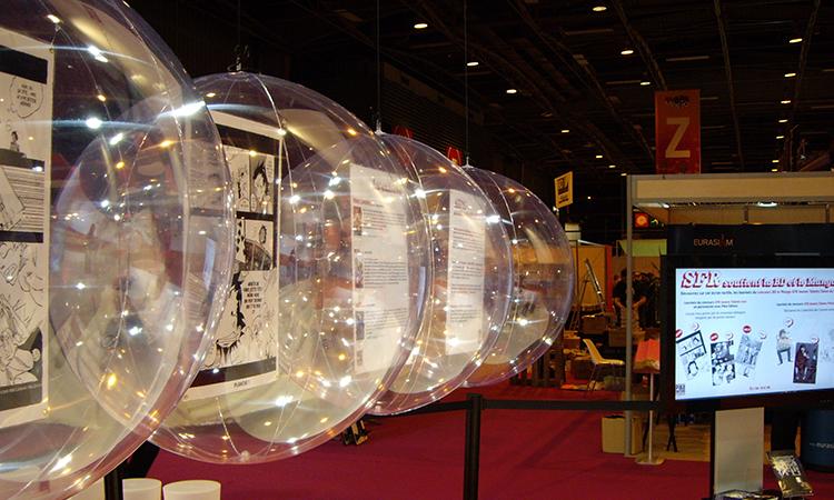 sphere, boule, bulle géante, demi-sphère