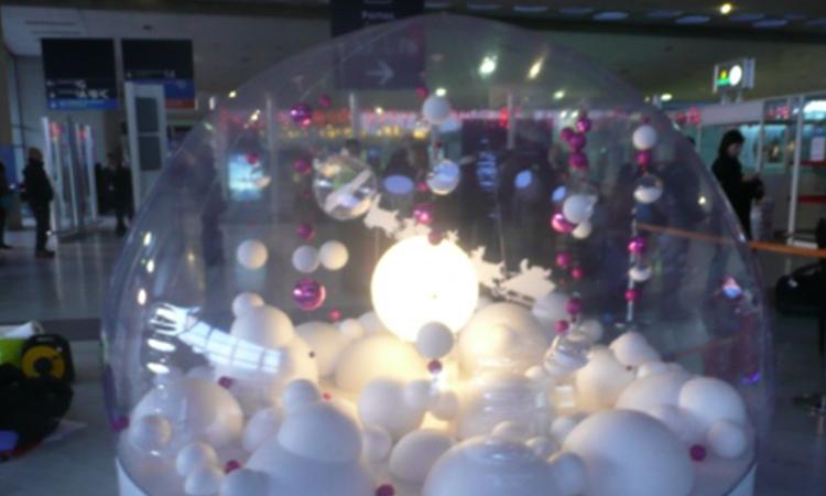 décor dans une bulle, décors de Noël
