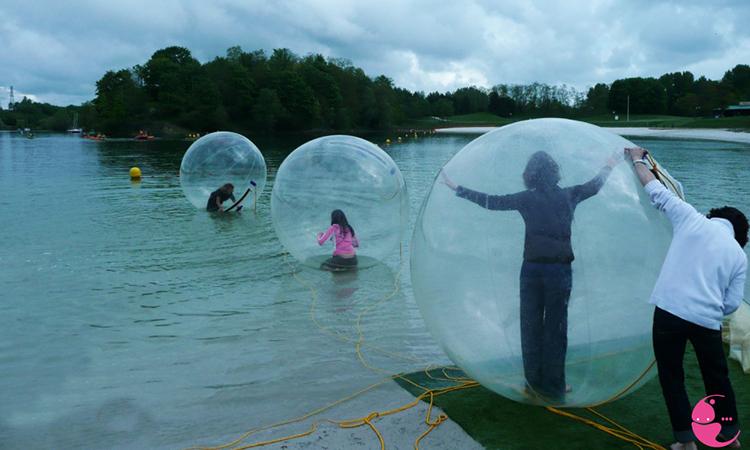 bulles sur l'eau