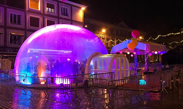 igloo gonflable de 8 mètres