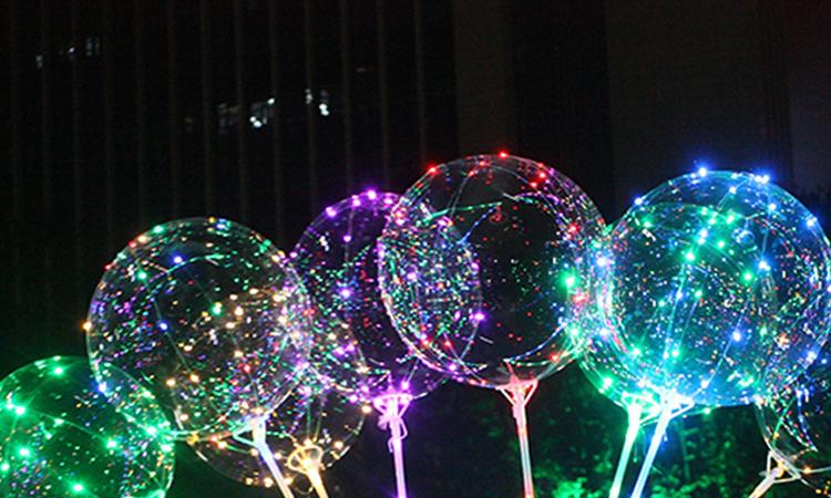 ballon transparent lumineux led